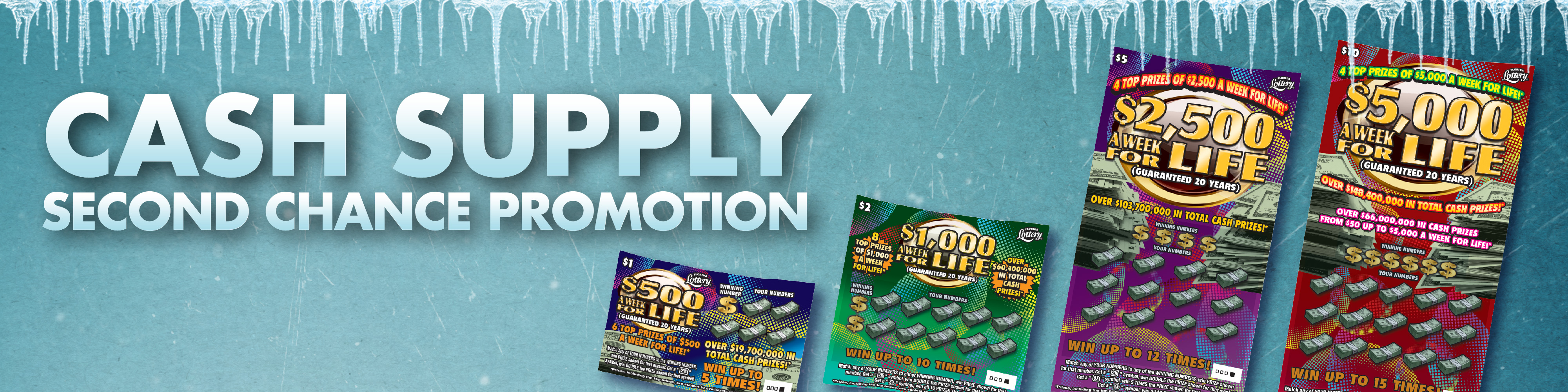 Winners - CASH SUPPLY - Florida Lottery Second Chance